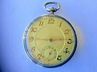 ANTIQUE SWISS SOLED SILVER .800 ANCRE 15 RUBIS BREVETE PUCKET WATCH W/ 6 MEDALS