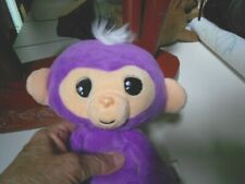 adorable purple fingerling plush monkey speaks many noises and words #5672