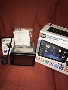 """Dual XVM286BT 6.2"""" Car Stereo Bluetooth LCD Touch Screen Multimedia Receiver"""