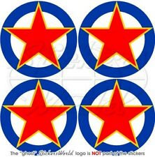 YUGOSLAVIA SFR Yugoslav AirForce Aircraft Roundel 50mm Stickers Decals x4