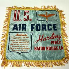 VTG WW2 Satin Pillow case sham Harding Field Baton Rouge US Army Air Force  - P3