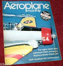 Aeroplane Monthly 1976 April Martin Mars,Lufthansa,Irish Air Corps Seafire,Miles