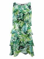SL Fashions Women's Printed Tiered Shift Dress