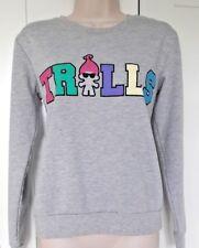 827692a7e99d5 DREAMWORKS TROLLS size 8 ladies girls grey sweatshirt jumper lounge top  PRIMARK