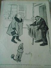 Orgue de Barbarie Caniche 1900 Original Print Humour