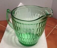 Vintage Green Pitcher Depression Ware?.  Unique Fish Scale Pattern On The Inside