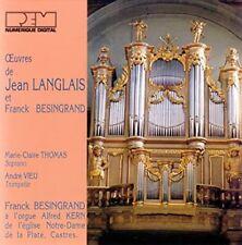 Oeuvres de Jean Langlais et Franck Besingrand
