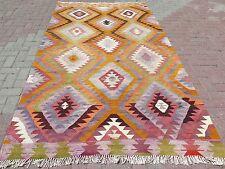 "Antique Anatolia Turkish Antalya Barak Kilim 63,7""x107,8"" Area Rug,Floor Carpet"