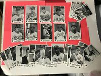 1984 - 37 CARD LOT KANSAS CITY ROYALS TEAM ISSUED PHOTO CARDS - Brett