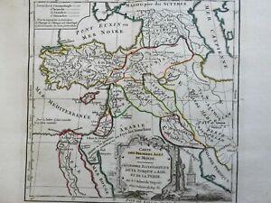 Ottoman Empire Middle East Persia Egypt Holy Land 1748 Vaugondy decorative map