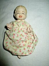 """Vintage Bisque Japan Shackman 5"""" Crying Baby Doll ?original outfit"""