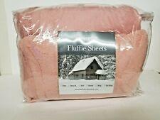 Berkshire Blanket Fluffie Sheet Set-Queen-Blush--NIP