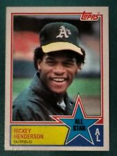 Hall of Fame Rickey Henderson - All Star - 1983 Topps #391 Baseball Card