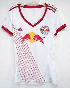 New Adidas Womens New York Red Bulls 2018 Replica Emblem Soccer Fan T-Shirt M