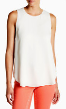 e1d249a31bd74f Theory Georgette Silk Shell Top Ivory M NWT  255