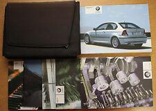 BMW 3 SERIES E46 COMPACT HANDBOOK OWNER MANUALS WALLET 2001-2004 PACK 14090