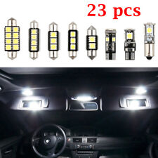 23x LED White Car Inside Light Dome Trunk Mirror License Plate Lamp Bulb 8 Types
