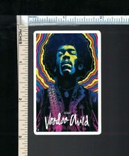 Jimi Hendrix Small 'Voodoo Child' Sticker - Psychedelic Wizard of 1960s Guitar