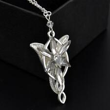 Shiny Retro Rhinestone Lord of the Rings Arwen Evenstar Pendant Necklace Chain