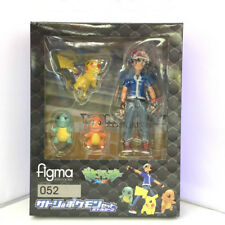 Figma 052 Ash Ketchum Pikachu Squirtle Charmander PVC Action Figure Model Toy