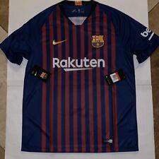 Nike Barcelona Fc Home Soccer Jersey 2018/19 Season 894430-456 Size Large