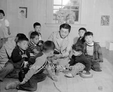 Photo. WW2. San Bruno, California. Nursery School Class for Japanese Evacuees