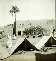 MAGHREB ALGÉRIE Sidi Okba ca 1910, Photo Stereo Vintage Plaque Verre VR3L2