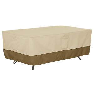 Classic Accessories Veranda Rectangular/Oval Patio Table Cover, X-Large