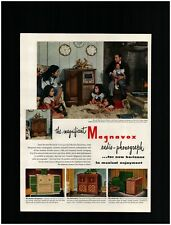 1947 Magnavox Radio - Phonograph Lineup Original Print Ad ~ record player phono