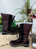 Sorel Women's Tivoli High II Waterproof Boots Madder Brown/Maroon Size 7