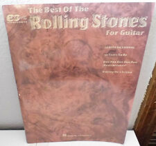 Hal Leonard- The Best Of Rolling Stones Song Book for Guitar Notes & Tab 1994