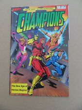 Champions 1 .Intro Marksman & The Rose .  Hero Comics . 1987 . FN / VF