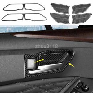 8pcs Carbon Fiber Style Inner Door Handle Bowl Cover Trim For Toyota Avalon 2019