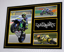 """Valentino Rossi  Canvas Signed """"Great Gift"""" 16 x 12 Frame"""