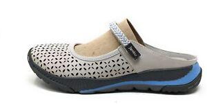 Jambu Womens Bailey Open Back Flat Walking Shoes Clay Leather Size 7 W
