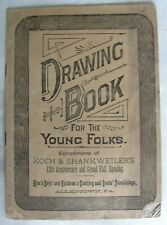 Vintage Advertising DRAWING BOOK FOR YOUNG FOLKS - Clothing Store, Allentown PA