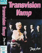 TRANSVISION VAMP POP ART CASSETTE ALBUM POP ROCK PUNK ALTERNATIVE MCA MCFC 3421