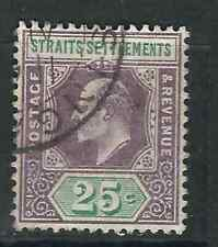 Straits Settlements Stamps 117 SG 133 25c Dl Purp & Grn Used VF 1905 SCV $40.00