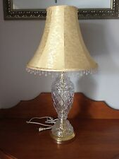 GORGEOUS CUT GLASS LAMP BASE with CREAM LAMP SHADE ~ PICK-UP MELB or POST