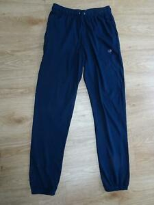 CHAMPION mens navy blue jersey tracksuit trousers joggers LARGE EXCELLENT