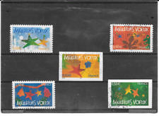 FRANCE 2004. MEILLEURS VOEUX. SERIE COMPLETE DE 5 TIMBRES AA CACHETS RONDS 44/48