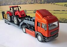 Boys Toy Teamsters RED TRANSPORTER LORRY & TRACTOR Birthday Present Gift Boxed