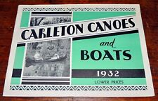 Scarce Vintage 1932 Carleton Canoes and Boats Catalog, Old Town, ME