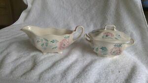 Made In England Sugar Bowl & Creamer Set