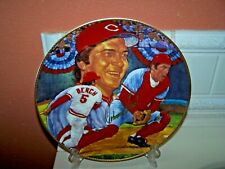 "1989 Gartlan Autographed 10.25"" Plate  HOF  Johnny Bench  Mint!"