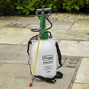 Garden Pressure Sprayer 5 Litre Pump Action Knapsack Weedkiller