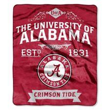 50 X 60 In. Alabama Crimson Tide NCAA Royal Plush Raschel Blanket Label Series