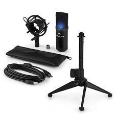 auna LED USB Kondensator Studio Mikrofon Set Spinne Tischstativ Tasche schwarz