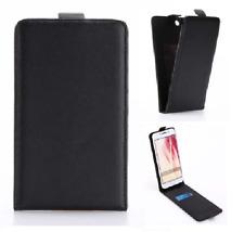 Magnético Flip Down Teléfono Móvil Funda LG Optimus L3 Negro Cuero Inteligente II
