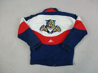 VINTAGE Florida Panthers Jacket Adult Small Blue Red NHL Hockey Coat Mens 90s *